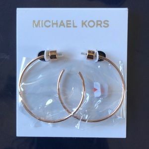 Michael Kors Rose Gold Hoop Earrings